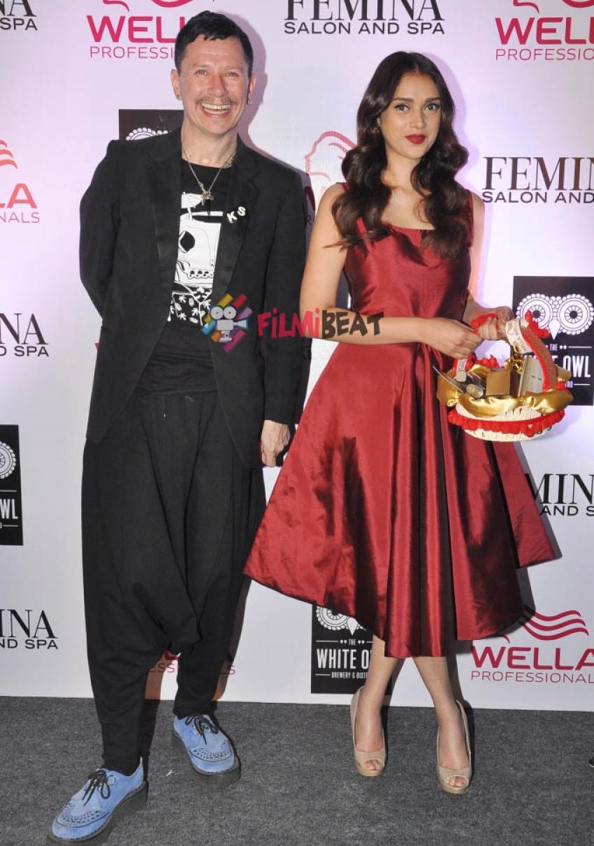 Aditi Rao Hydari Launches Femina Salon & Spa Magazine Cover Photos