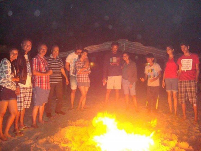 Yash And Radhika Pandit Celebrates New Year 2015 in Goa Photos