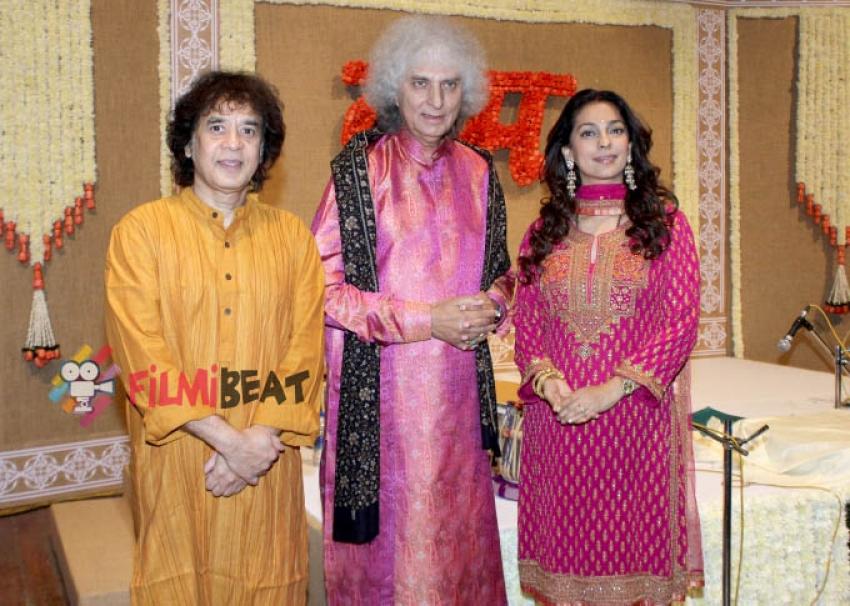 Juhi Chawla Hosted Musical Evening With Pandit Shivkumar Sharma & Zakir Hussain Photos