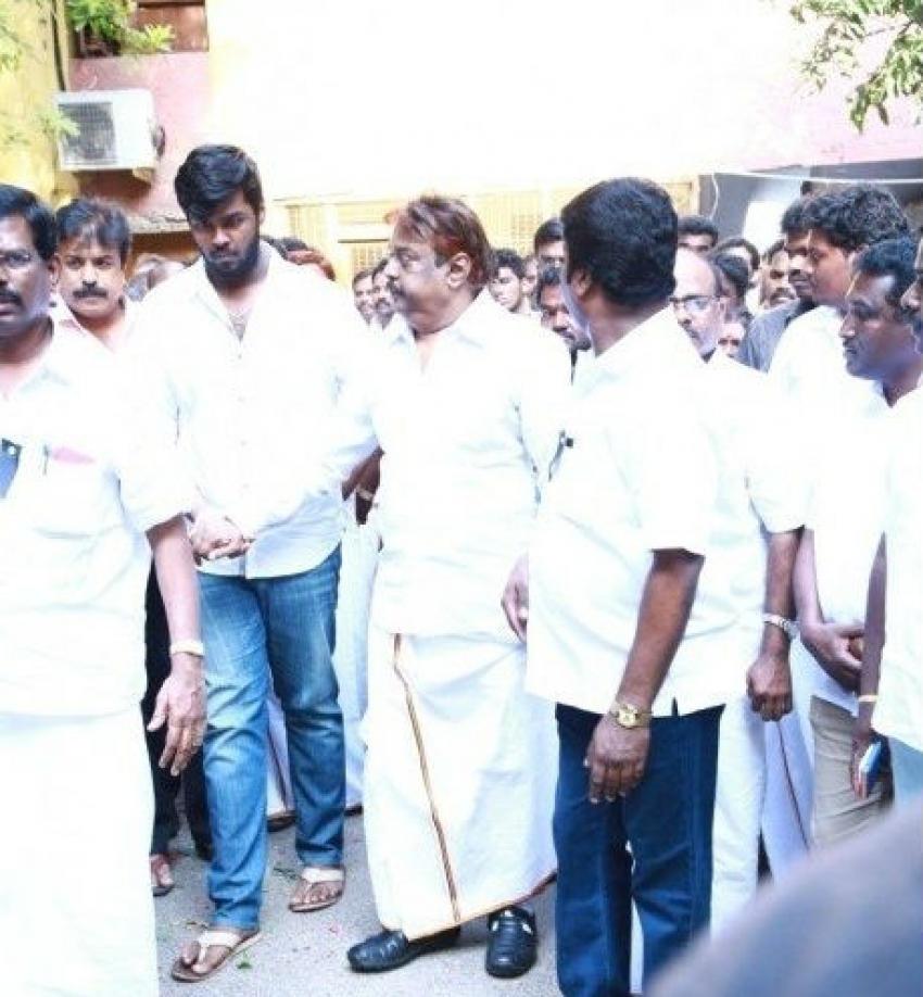 Actor Vijayakanth Pays Homage To His Brother Photos