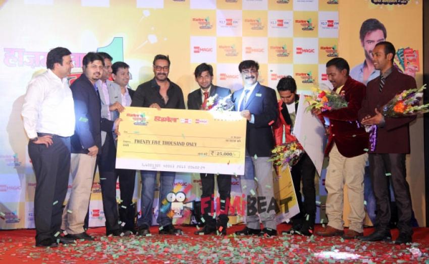 Ajay Devgan Judges Hajmola Open Mic Contest Photos