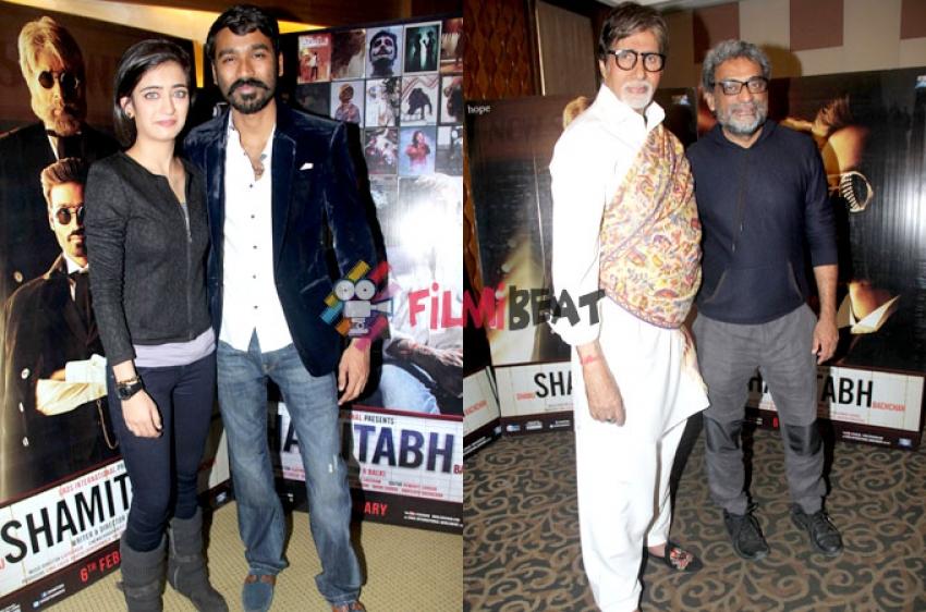 Amitabh, Akshara, Dhanush & Balki's Interview Of Film 'Shamitabh' Photos