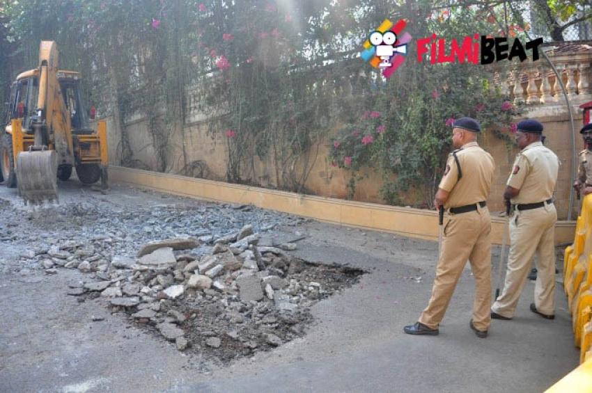 BMC demolishes Illegal SRK Ramp Photos