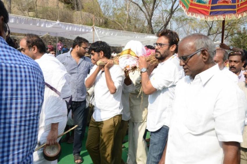 Celebrities At RamaNaidu's Final Journey Photos