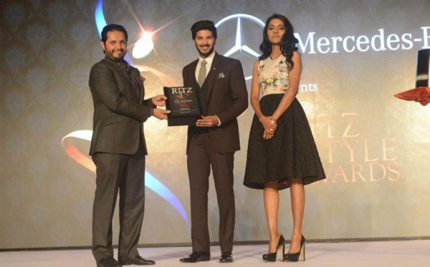 Dulquer Salmaan Receives Ritz Style Awards 2015 Photos