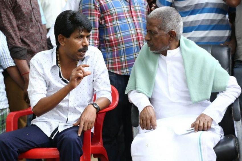 Isaignani Ilayaraja At Director Bala's Thaarai Thappatai Shooting Spot Photos