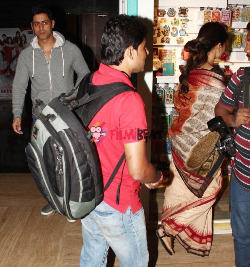 Mohit Raina Snapped With Mouni Roy At PVR Photos