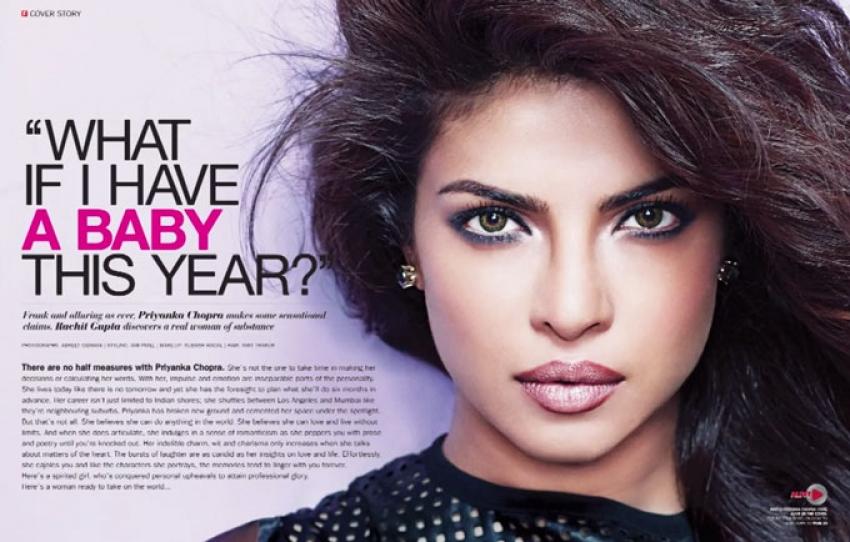 Priyanka Chopra Making of Filmfare Cover February 2015 Photos