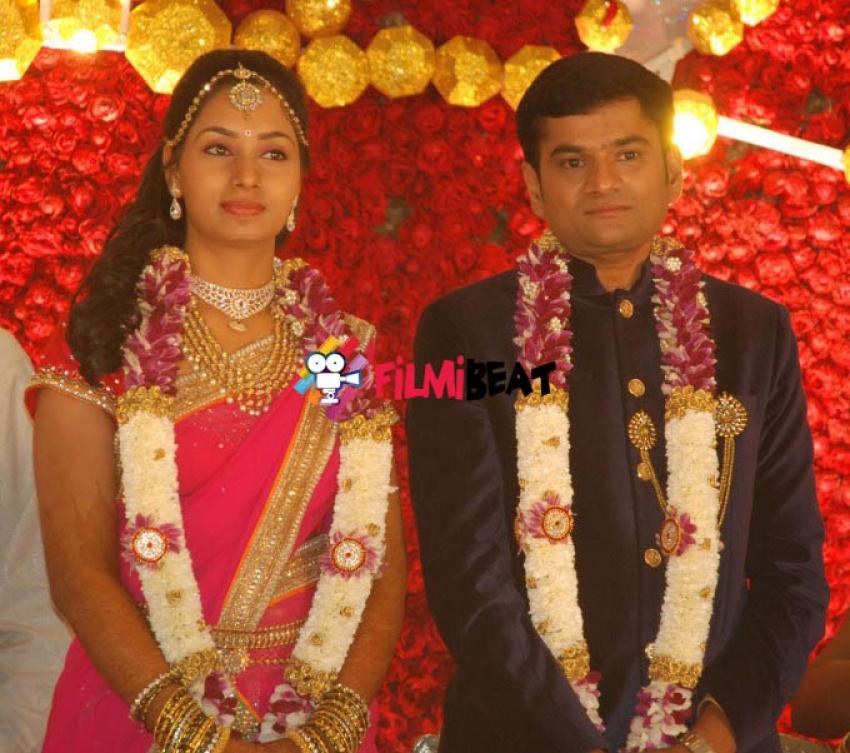S.Narayan's Daughter Vidyasri & Srinivas Wedding Reception Photos