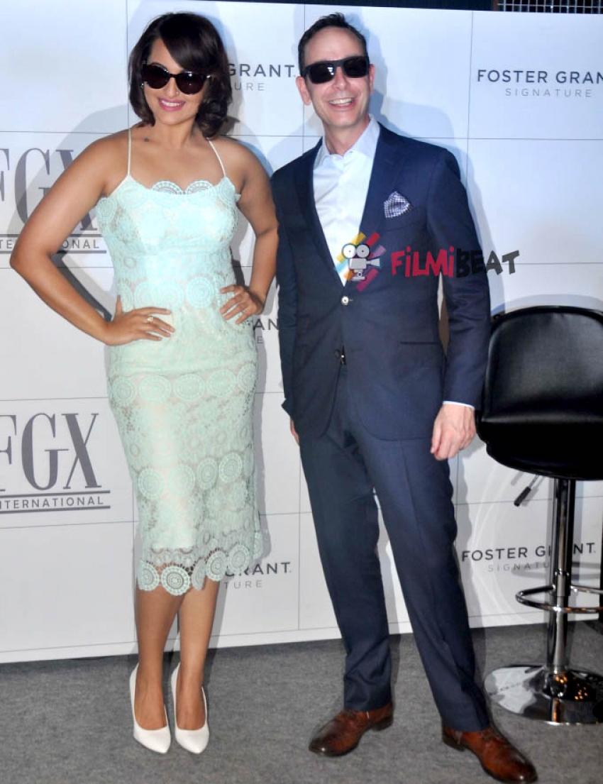 Sonakshi Sinha Launches 'Foster Grant' Eyewear Brand Photos