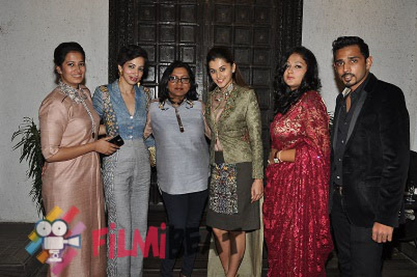 Taapsee Pannu At Exclusive Fashion Wine & Cheese Preview Photos