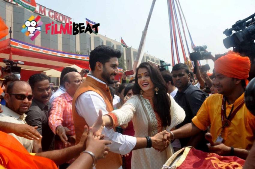 Abhishek Bachchan and Aishwarya Rai Celebrate Gudi Padwa Photos