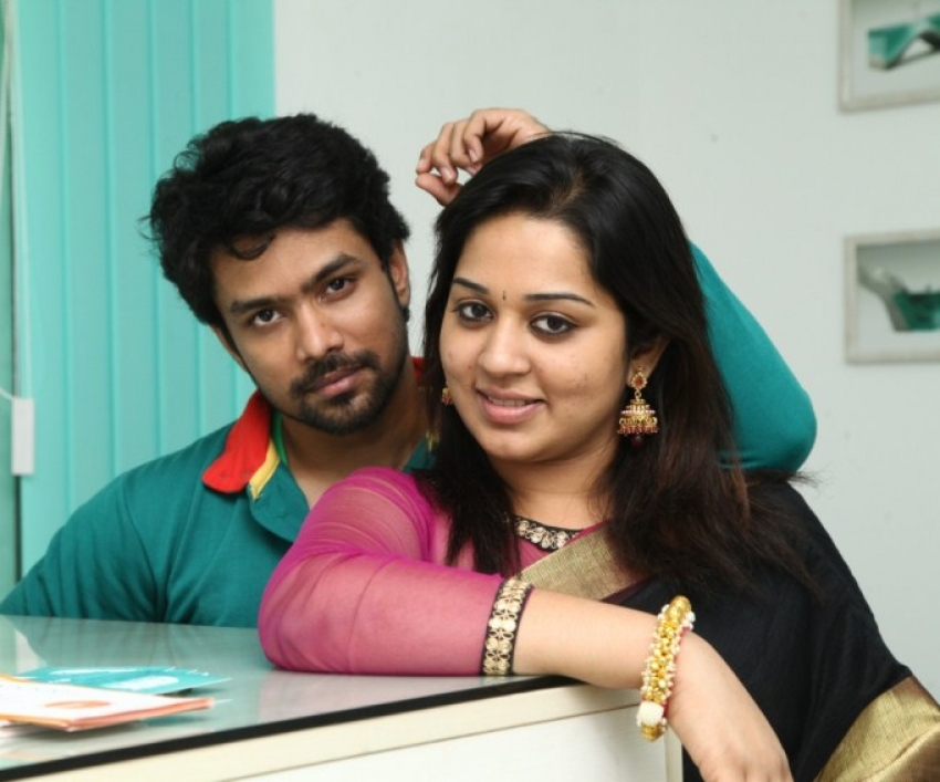 Actor Harish & Dr. Abhinaya Engagement Photos