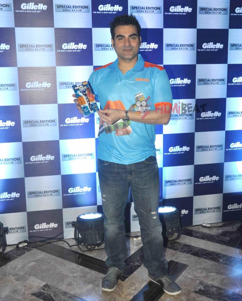 Media Interaction Of Arbaaz Khan By Gillette For Cricket Photos