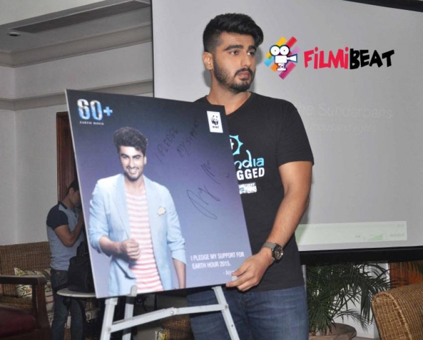 Arjun Kapoor Brand Ambassador Of World Earth Hour 2015 Photos