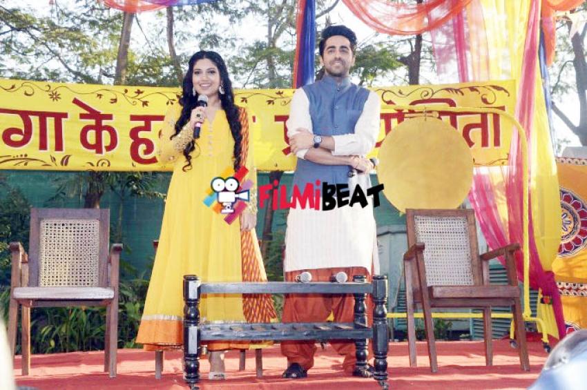 Holi Celebration Of Dum Laga Ke Haisha At Yash Raj Studio Photos