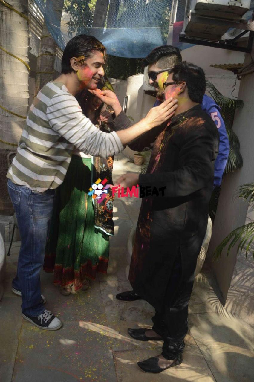 Bappa Lahiri's Holi Celebration 2015 Photos