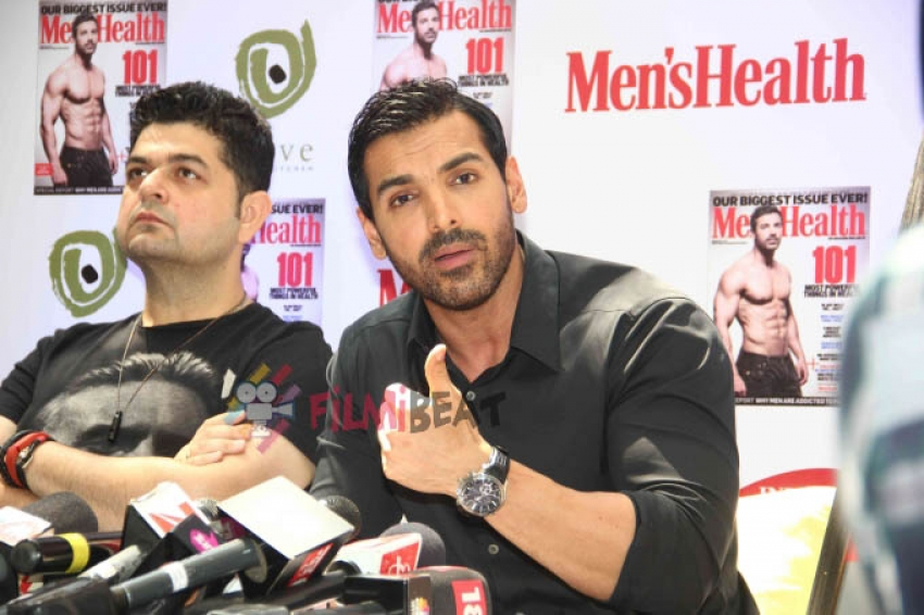John Abraham Launches Latest Issue Of Men's Fitness Photos