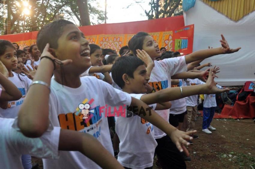 'Hey Bro' Movie Celebrates Holi With 200 Kids Photos