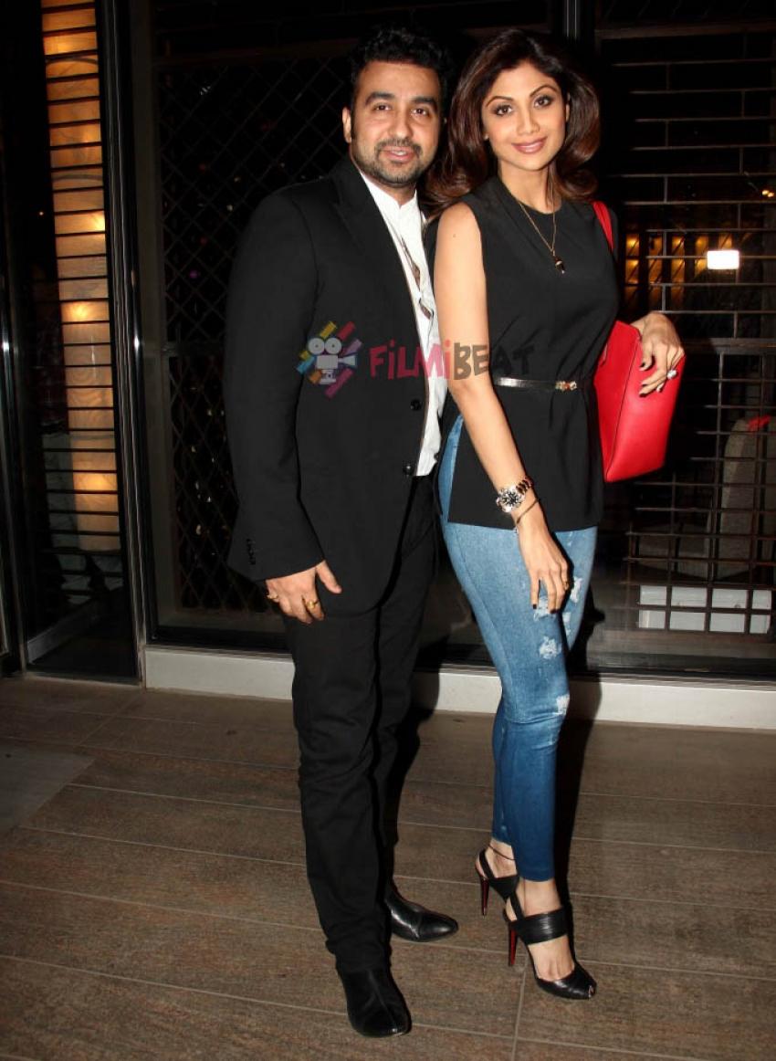 Shilpa Shetty and Raj Kundra Snapped At Hotel Mirchi Point, Mumbai Photos