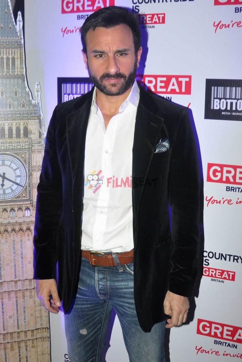 Saif Ali Khan At A Press Conference To Endorse 'UK Tourism' Photos