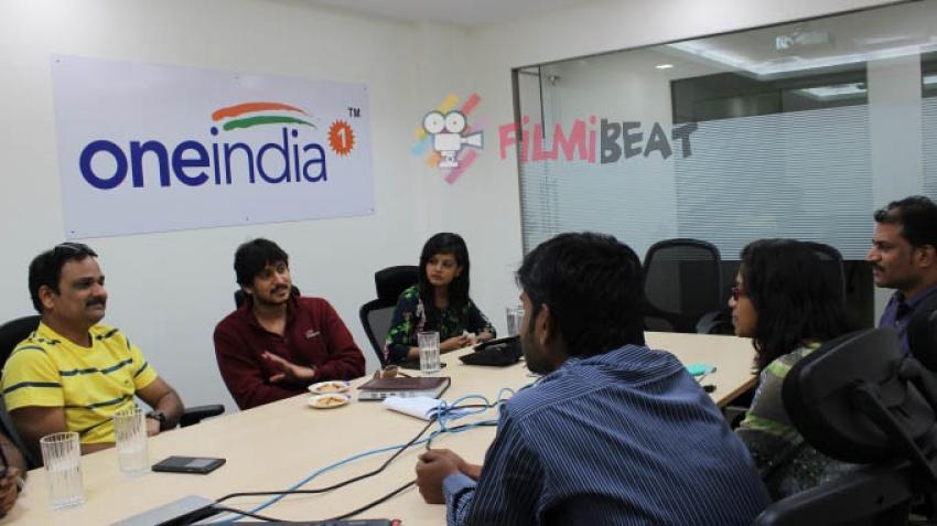 Krishna Leela Film Promotion At Oneindia Photos