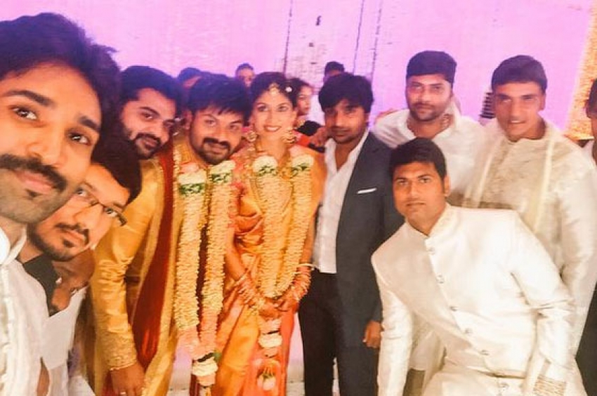 Manchu Manoj And Pranathi Reddy Engagement Photos