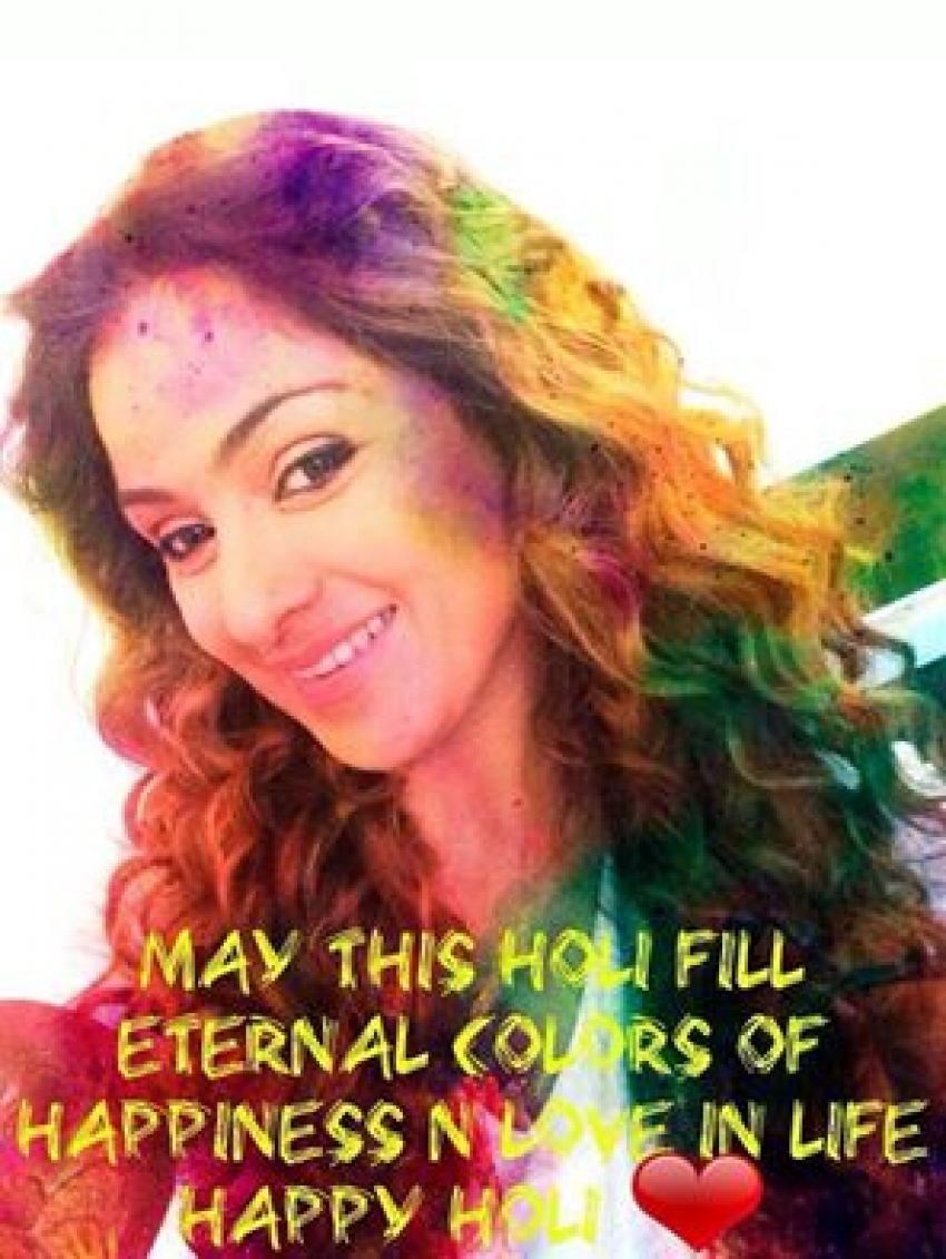 South Indian Celebs Celebrate Holi Photos