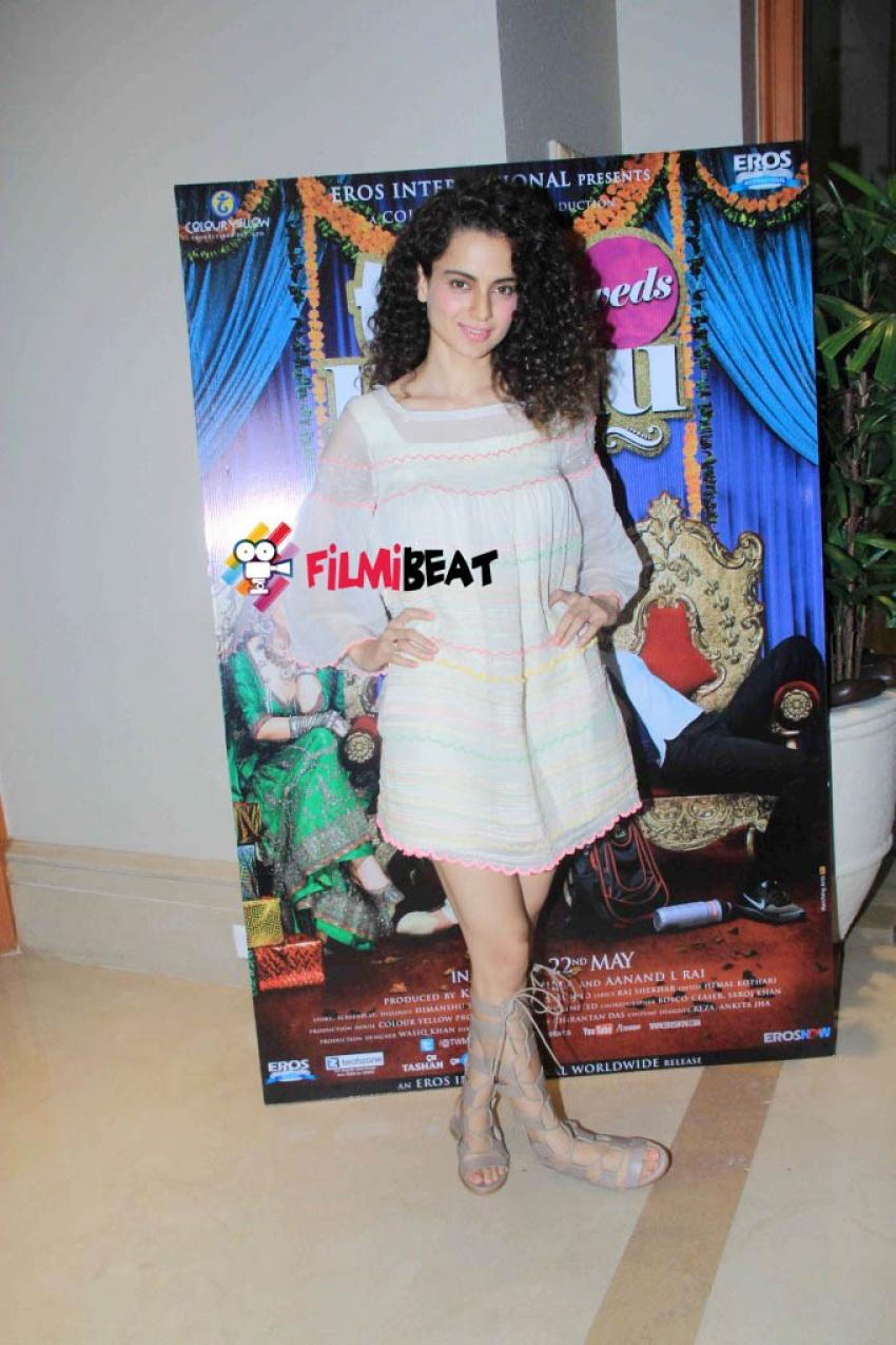 Press conference of film Tanu Weds Manu Returns Photos