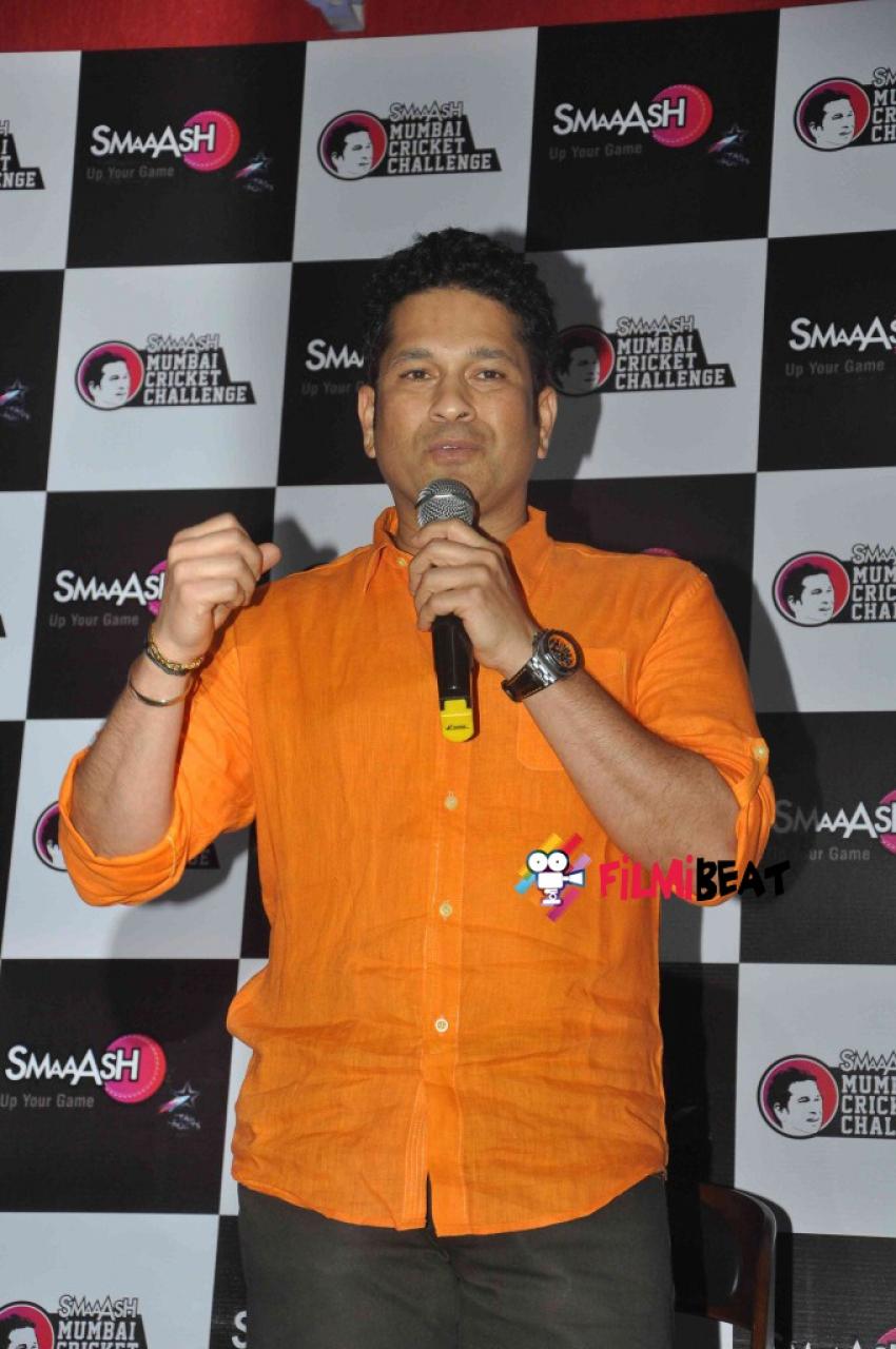 Sachin Tendulkar Felicitate Smaaash Mumbai Cricket Challenge Winner Photos
