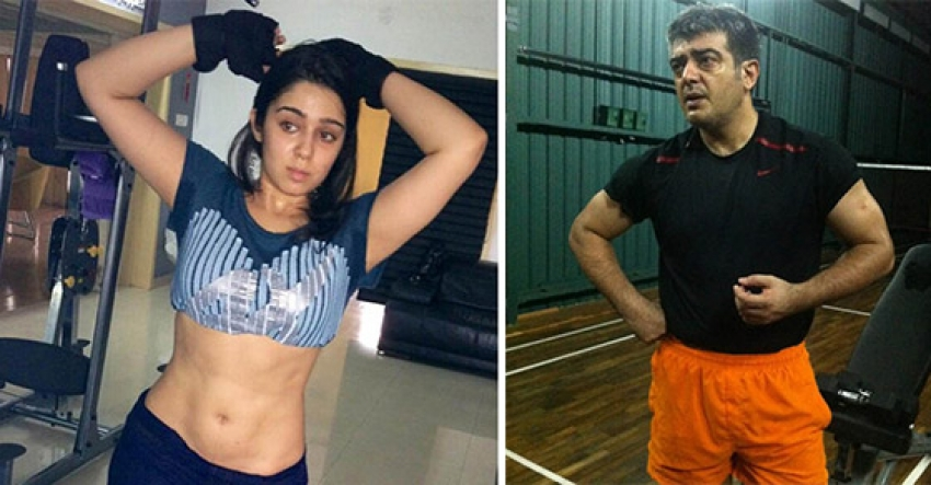 South Indian Celebs Working Out In Gym Photos