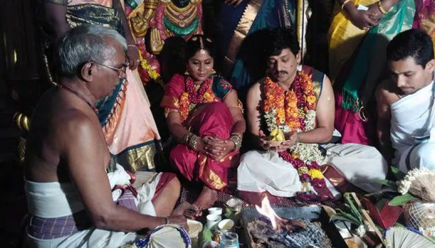 Actor Vidharth And Gayathri Marriage Photos