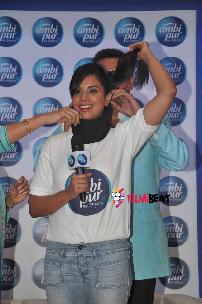 Boman Irani And  Richa Chadda Promote Ambi Pure Photos