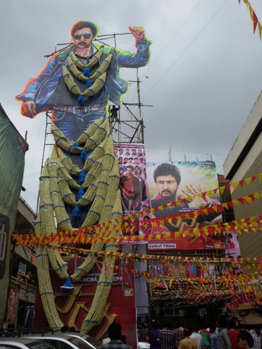 Ranna Fans Craze in Karnataka Photos