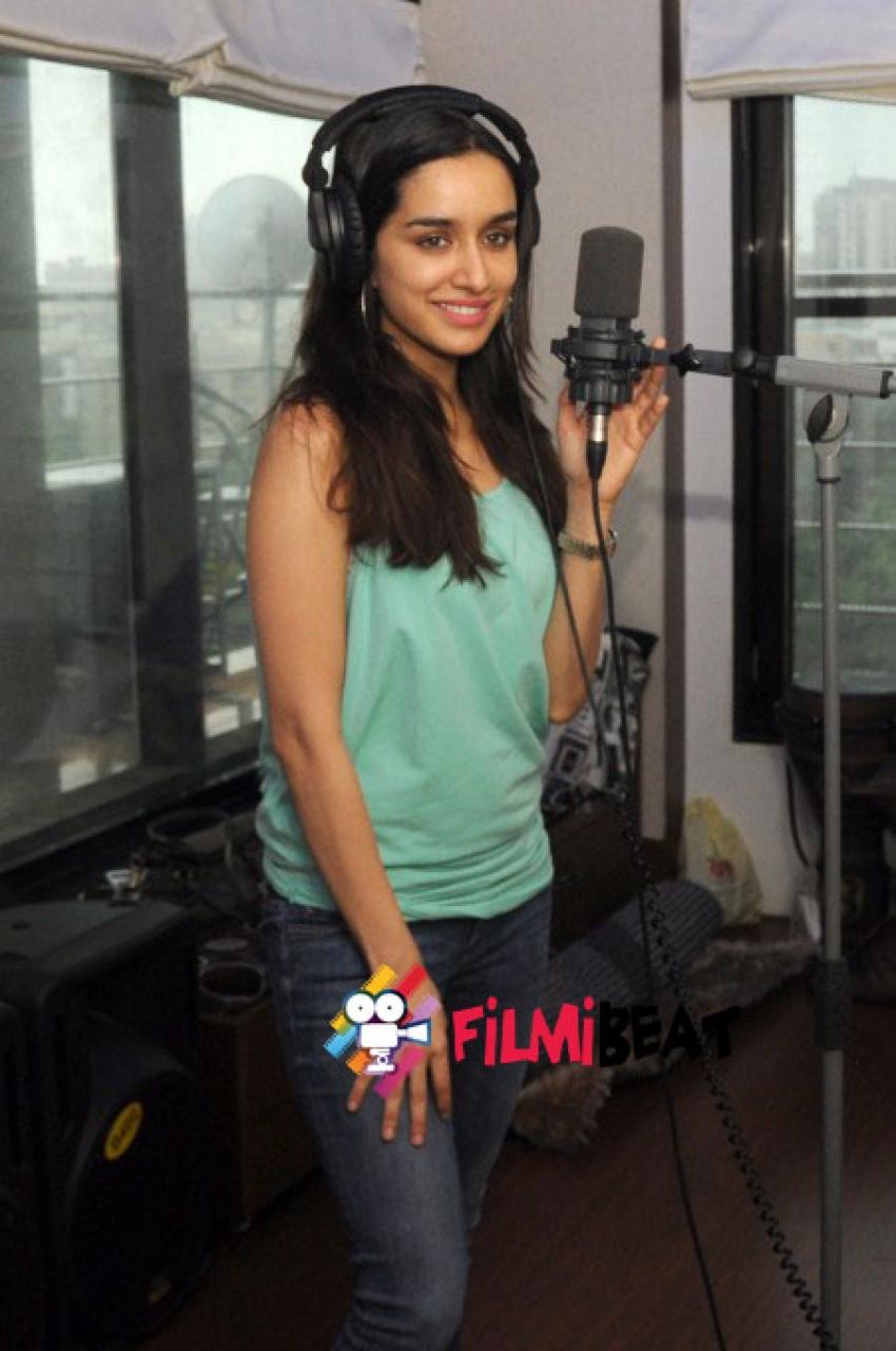 Actor Shraddha Kapoor at song recording for ABCD 2 Photos