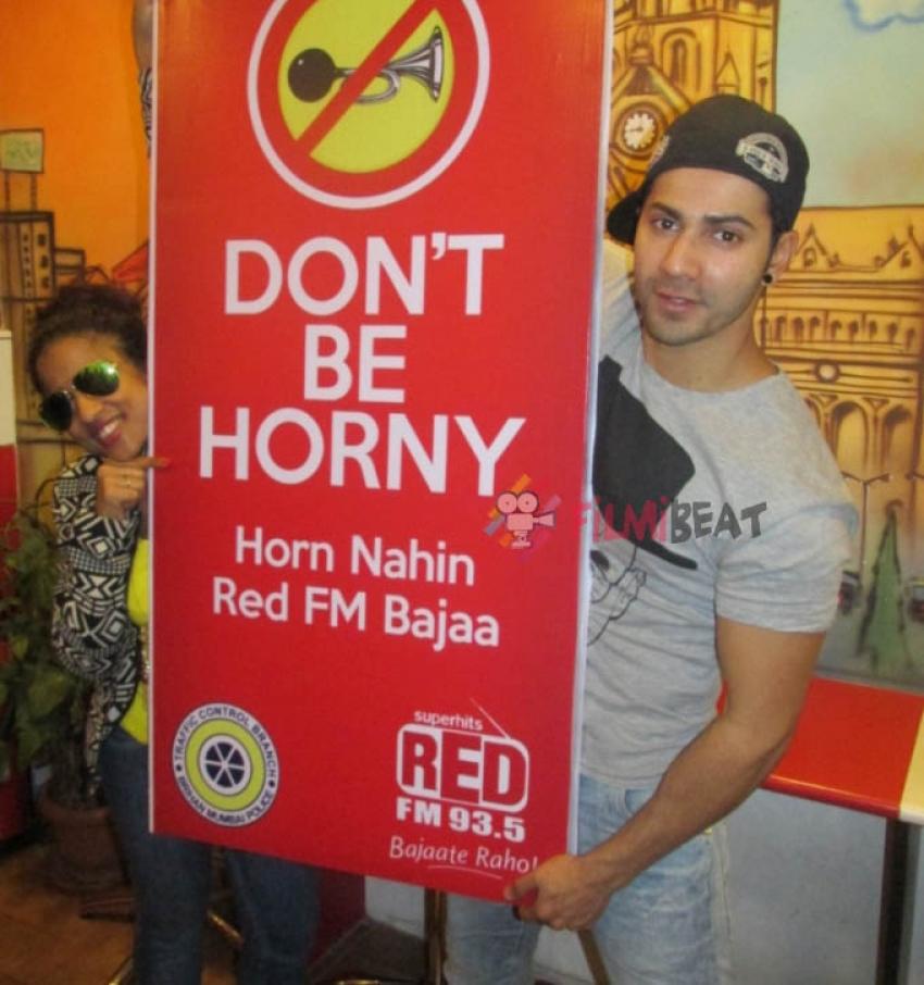 Shraddha Kapoor & Varun Dhawan Endorse Red FM's Campaign Photos