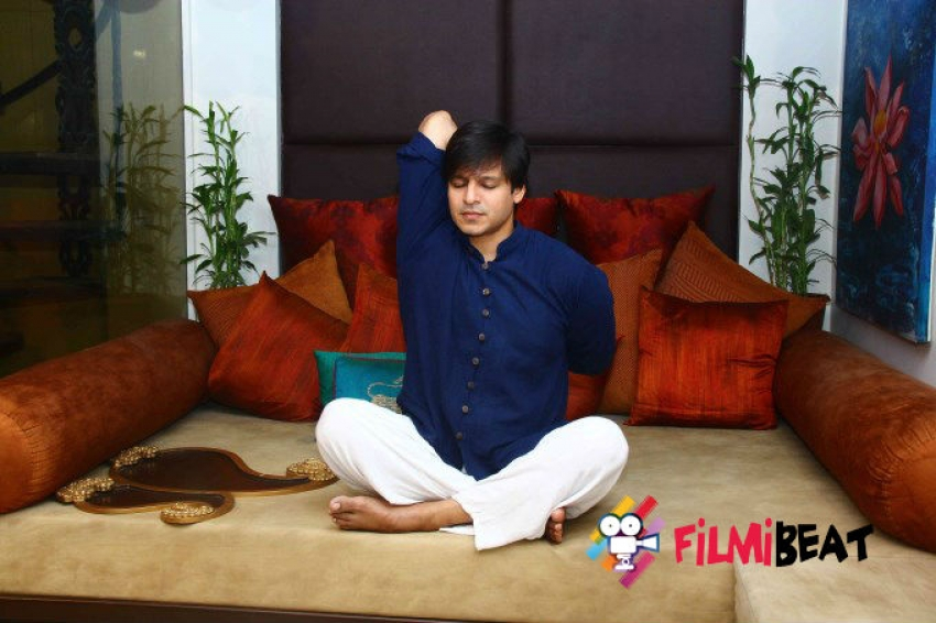Vivek Oberoi Interacts With Media On Yoga Photos
