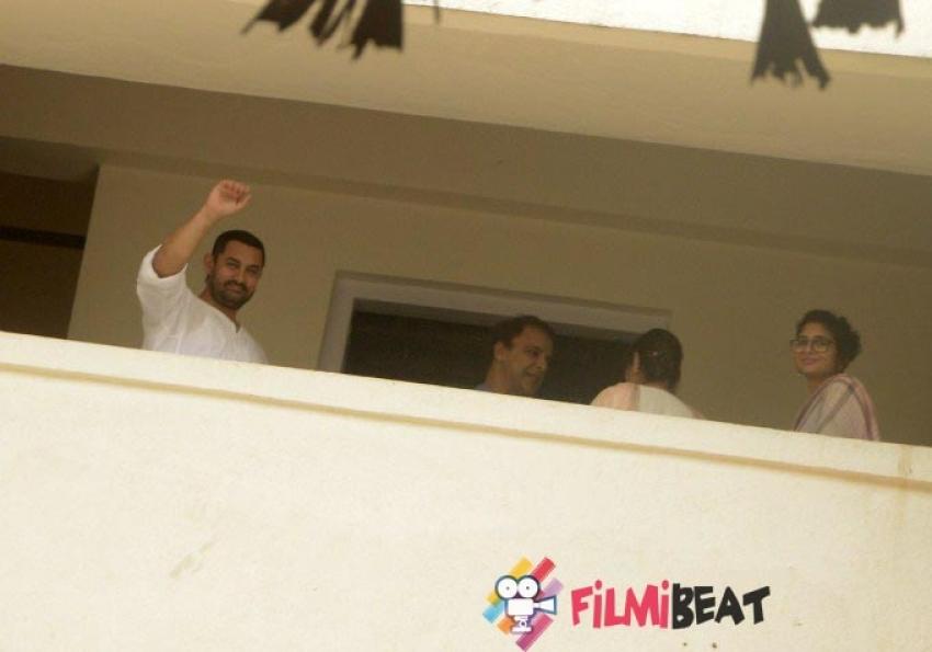 Aamir Khan & Imran Khan Celebrates Eid 2015 Photos