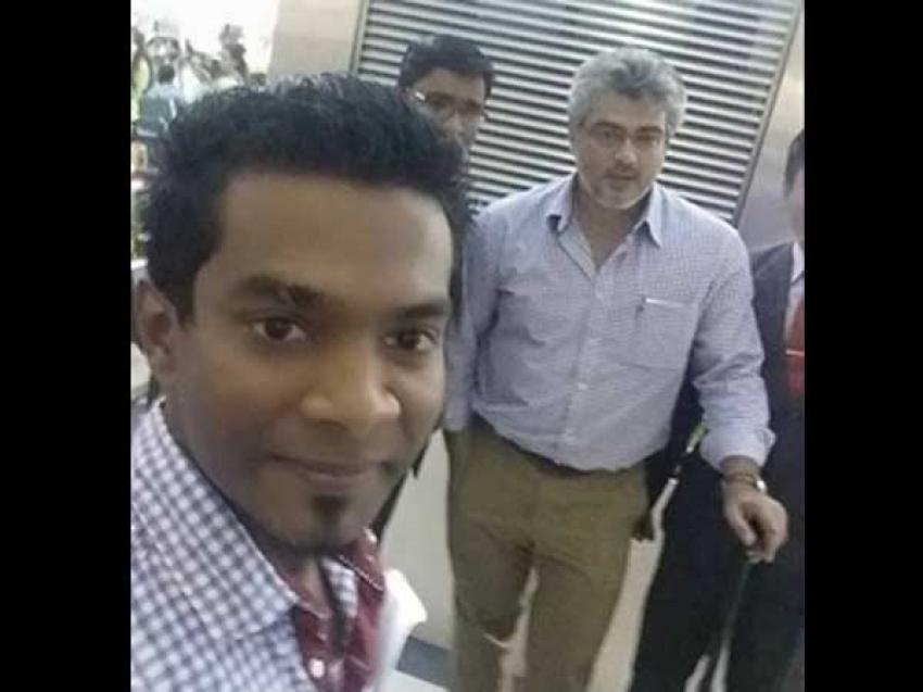 Thala Ajith Snapped At Abu Dhabi Airport Photos