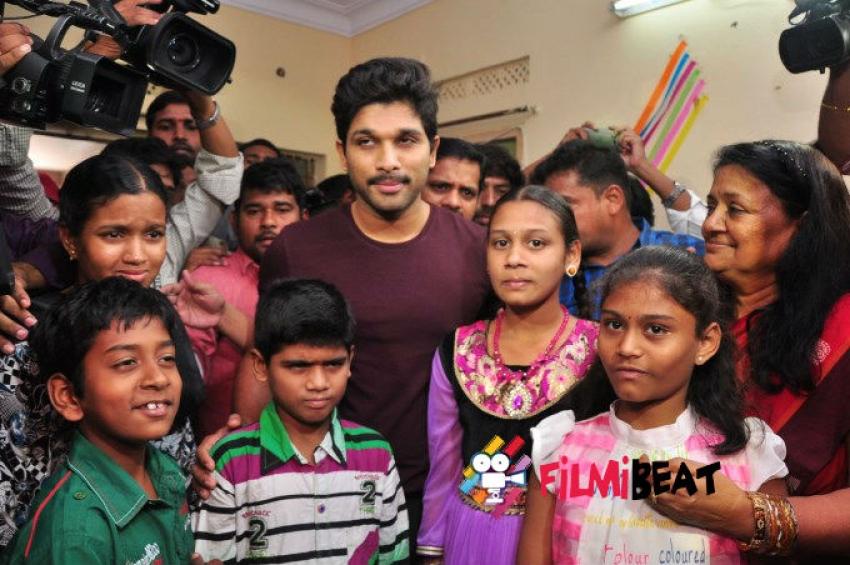 Allu Arjun Met Cancer Children At Make A Wish Foundation Photos