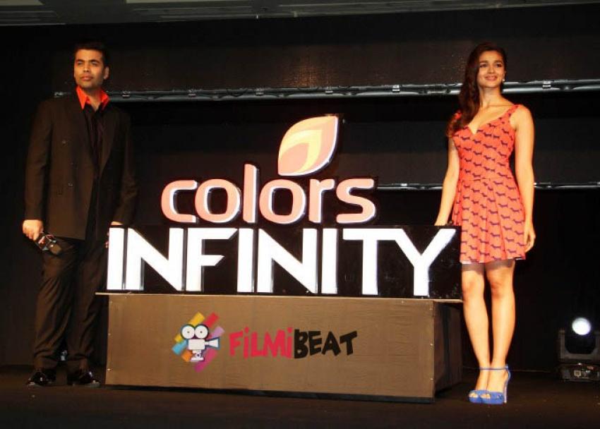 Karan Johar & Alia Bhatt Launch Colors Infinity And Colors Infinity Photos