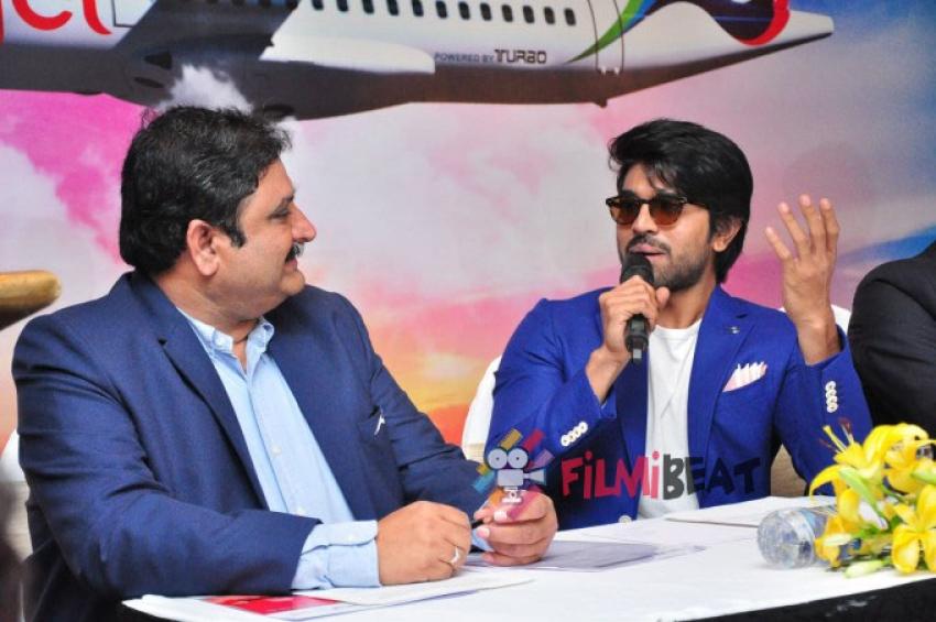 Ram Charan Trujet Airways Press Meet Photos