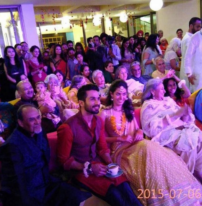 Shahid Kapoor & Mira Rajput Sangeet Ceremony Photos