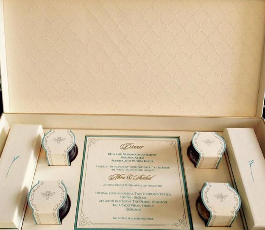 Shahid Kapoor & Mira Wedding Card Photos
