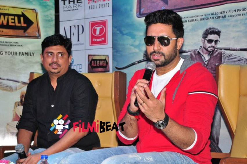 Abhishek Bachchan At All Is Well Movie Press Meet Photos