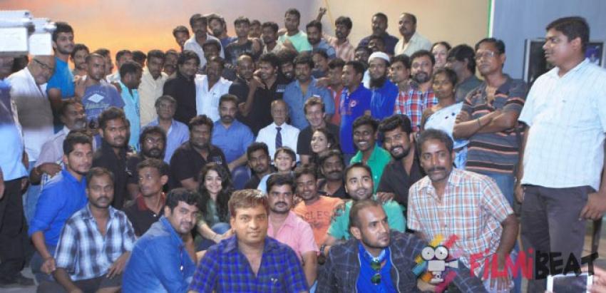 Thoonga Vanam Movie Shooting Wrapped Photos