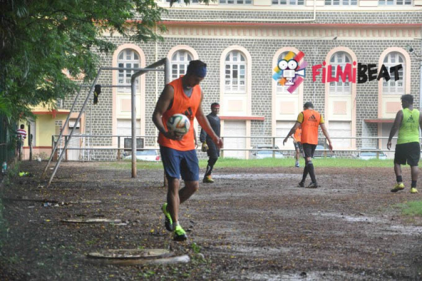 Ranbir Kapoor and Dino Morea Playing Football Photos