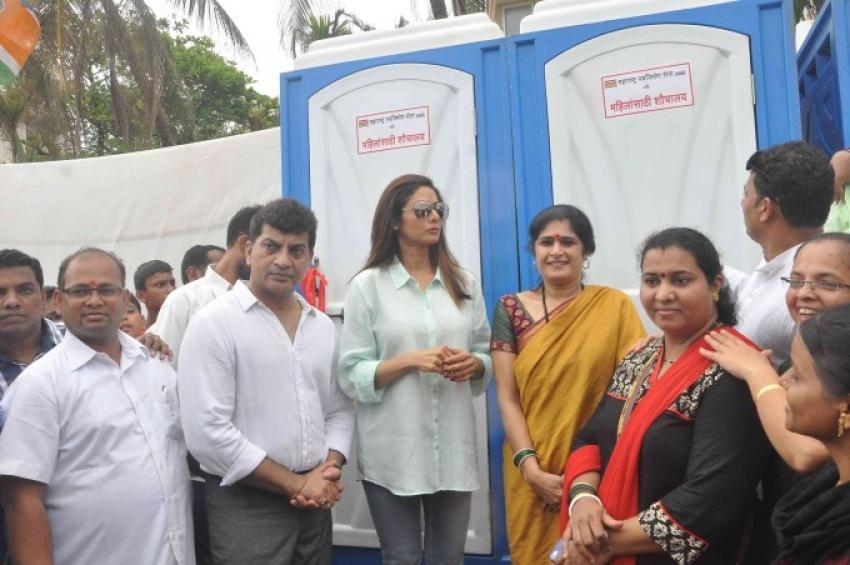 Sridevi Inaugurates Public Sulabh Toilet In Mumbai Photos