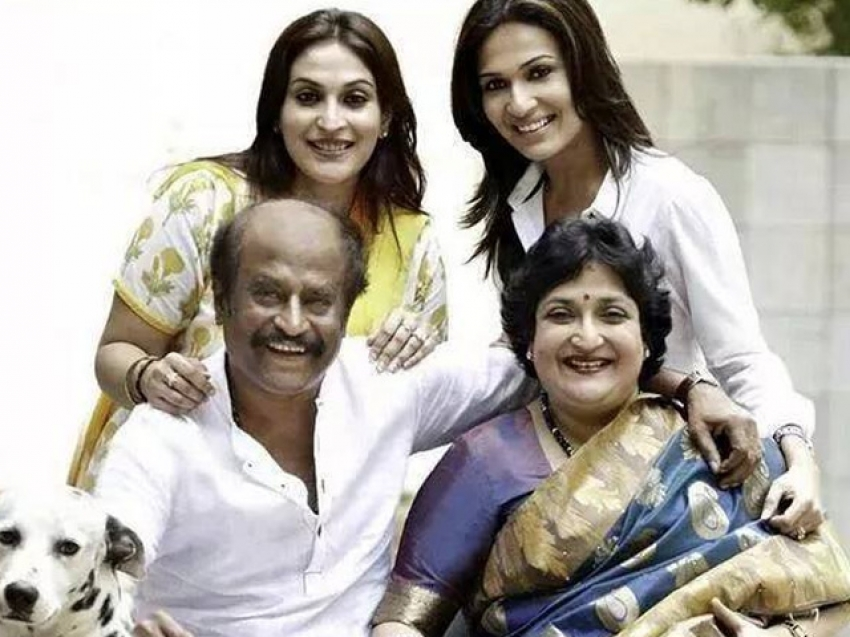 Rajnikanth Family Pic