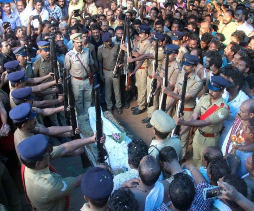 Actor Kalabhavan Mani Funeral Photos
